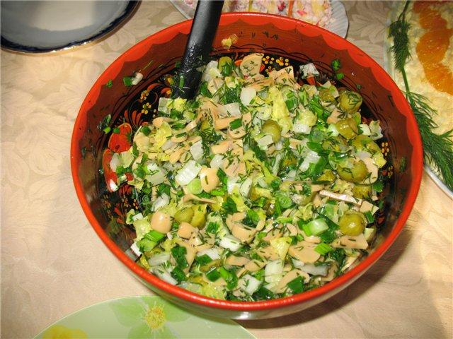 рецепты салатов с консервированными опятами