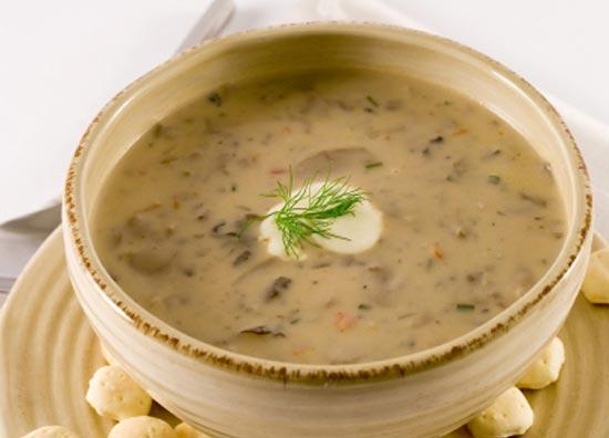 Суп из сушеных грибов по-итальянски